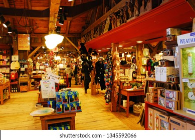 Grafton, VT, USA December 17, 2009 The Interior of a large general store in Grafton, Vermont shows they cater to the local and tourist customers