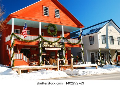 Grafton, VT, USA December 17, 2009 The Vermont Country Store at Christmas in Grafton, Vermont is decorated for the Christmas season