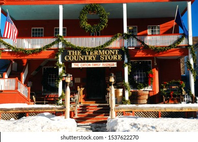Grafton, VT, USA December 17 The Vermont Country Store, in Grafton, Vermont, is decorated for the Christmas season
