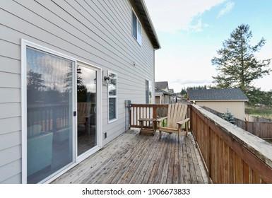 Graham, WA, USA - Jan. 29, 2021: Residential exterior