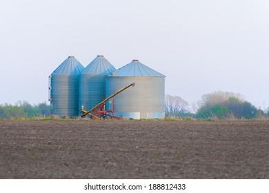 Grain Bins on the Prairie