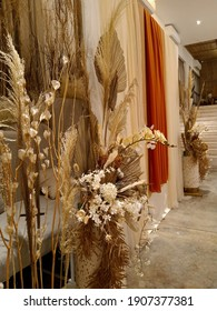 grain decor with fabric backdrop