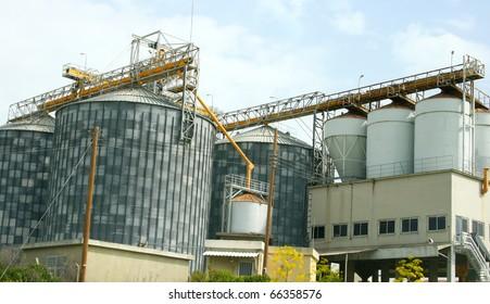 Grain elevator in Cyprus.