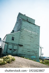 grain elevator at Picture Butte, Alberta, Canada near Lethbridge