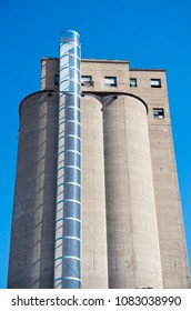 grain elevator silo fitted with energy column and turbine to generate electricity in minneapolis minnesota hennepin county