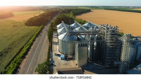 Grain elevator. View top