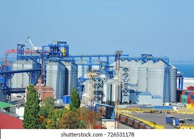 Grain silo in the port of Odessa, Ukraine