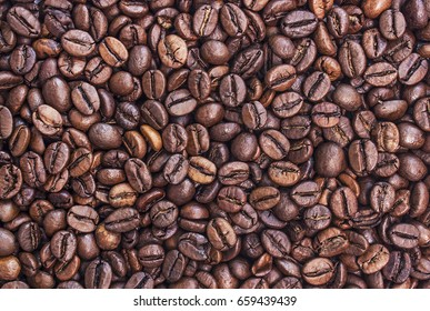 Grains of coffee as background