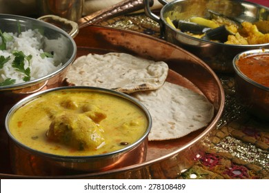Gram flour and yogurt based dish from north India.