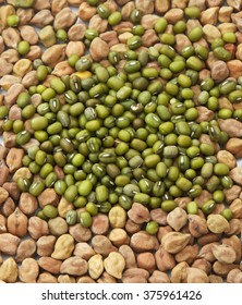 gram and and green lentil