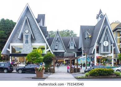 GRAMADO, BRAZIL - November 03, 2017 - Street and architecture of Gramado city - Gramado, Rio Grande do Sul, Brazil