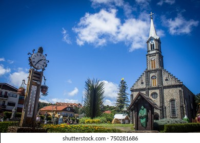 GRAMADO, BRAZIL - November 05, 2017 - Saint Peter Stone Church - Gramado, Rio Grande do Sul, Brazil