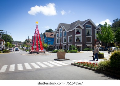 GRAMADO, BRAZIL - November 05, 2017- Streets of the city decorated for Christmas Luz Gramado, Rio Grande do Sul, Brazil