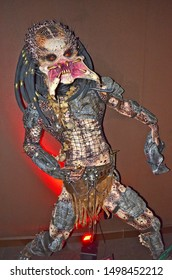 GRAMADO, RIO GRANDE DO SUL, BRAZIL - JUN 02, 2016: Predator, a fictional extraterrestrial species featured in the Predator science-fiction franchise, at the Dreamland Museu de Cera (wax museum)