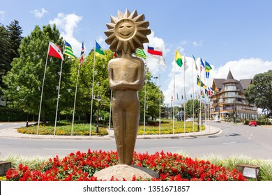 GRAMADO, RS, BRASIL - JANEIRO 22, 2017: Located in the mountains of the state of Rio Grande do Sul, it is one of the main tourist attractions in Brazil, with year-round attractions, as film festival.