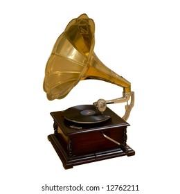Gramaphone isolated on white background