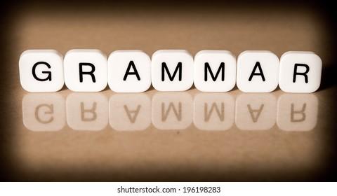 Grammar concept