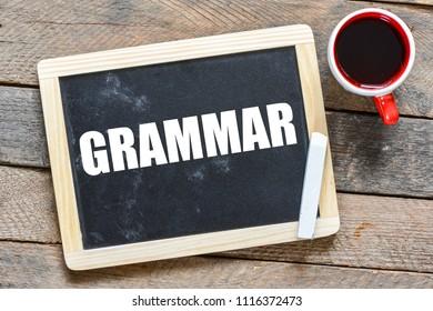 GRAMMAR. Word writing text Grammar. Business concept