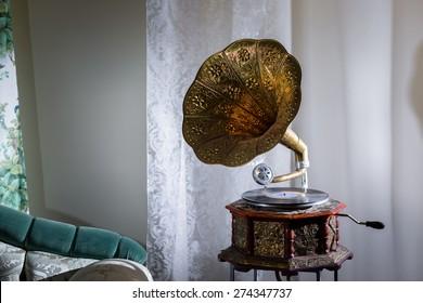Gramophone in the interior