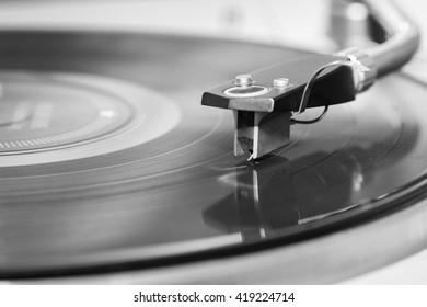 Gramophone player close up.