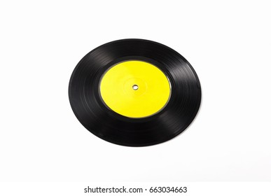 Gramophone record isolated on white background.