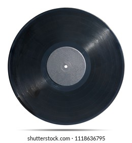gramophone record Long played record  vinyl Carbide vintage analog music recording medium isolated over white background. This nas clipping path.