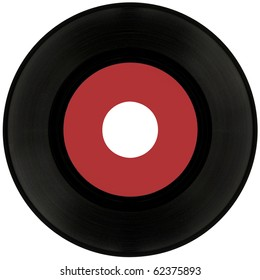 Gramophone vinyl record isolated with two clipping paths, outside and for label
