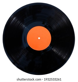 Gramophone vinyl record isolated at the white background with clipping path