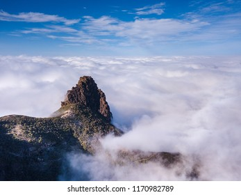 Gran Canaria Aerial Mountains Pico De Las Nieves