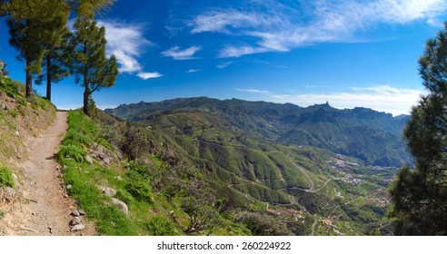 Gran Canaria, Caldera de Tejeda, hiking path  Artenara - Cruz de Tejeda