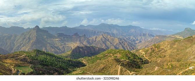 Gran Canaria, Caldera de Tejeda from Artenara village
