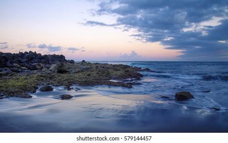 Gran Canaria, evening beach in Telde municipality