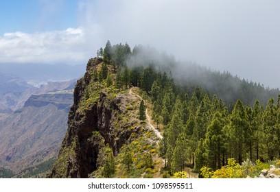 Gran Canaria, hiking path