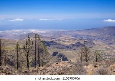 Gran Canaria, June, view across Caldera de Tirajana