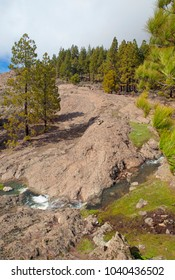 Gran Canaria, Las Cumbres, the highest areas of the island are full of temporary streams after rains