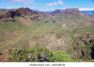 Gran Canaria - panorama of interior. Gran Canaria, Canary Islands, Spain.