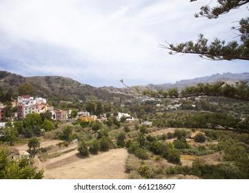 Gran Canaria, Santa Brigida municipality, view from the belltower of the church