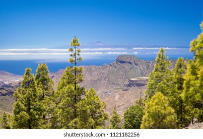 Gran Canaria, view from Las Cumbres, the highest areas of the island