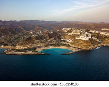 Gran Canary beach Amadores from air