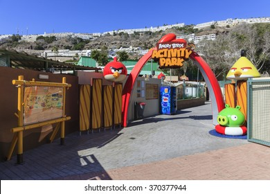 Gran Canary, Spain - Jan 25, 2016 : Entrance of The Angry Birds Park in Puerto Rico, Gran Canary, Spain.