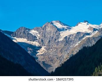 Gran Paradiso glacier from Cogne valley