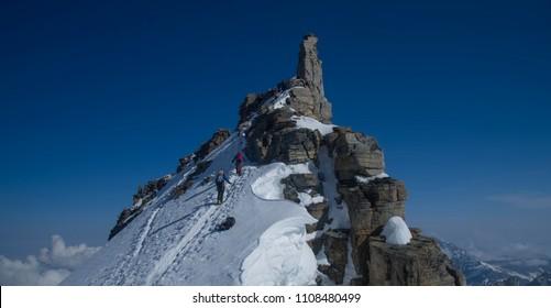 Gran Paradiso Peak 4061m in Italy Alps