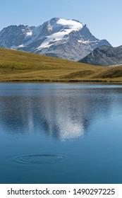 Gran Paradiso Peak, 4061mt, from Nivolet plateau. Italian Alps