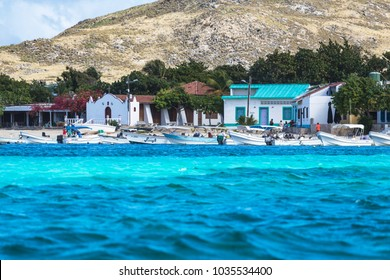 GRAN ROQUE, VENEZUELA - JANUARY 20, 2018: Gran Roque, the Capital of Los Roques archipelago, Venezuela