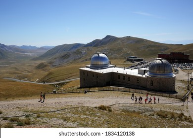 Gran Sasso, Italy - 08/23/2020:National Observatory of the Gran Sasso d'Italia