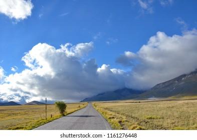 Gran Sasso National Park in Abruzzo, Italy