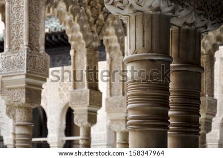 granada andalusia spain alhambra arab islamic architecture stock