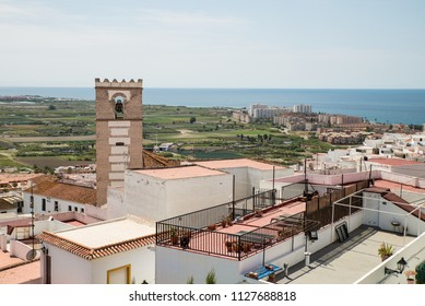 Granada coastline as seen from Salobrena castle