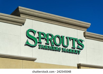 GRANADA HILLS, CA/USA - JANUARY 7, 2015: Sprouts Farmers Market retail store exterior. Sprouts is an American chain of specialty grocery stores with over 150 locations across the United States.