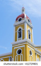 GRANADA , NICARAGUA  - MARCH 20 : The Granada cathedral in Granada Nicaragua on March 20 2016.  The original church constructed in 1583 and was rebuilt in 1915